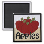 Apples Series 2 Square Magnet
