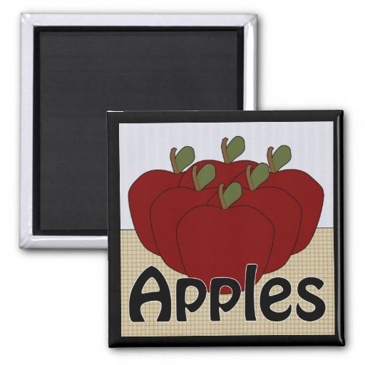 Apples Series 2 Square Magnet