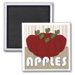 Apples Series 3 Square Magnet