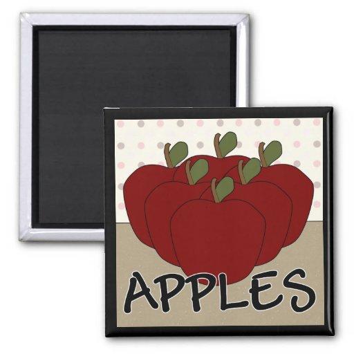 Apples Series 4 Square Magnet