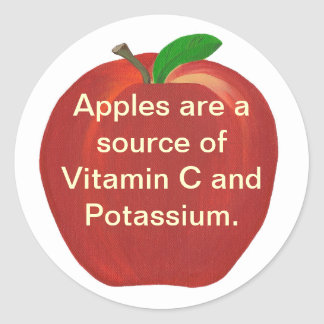 Apples Source of Vitamin C, Potassium Stickers