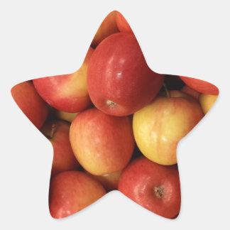 Apples Star Sticker