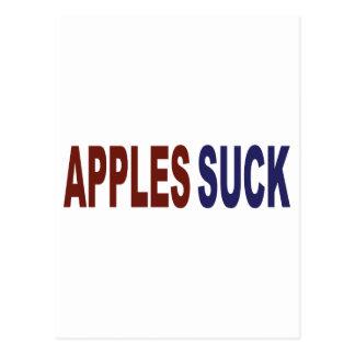 Apples Suck Postcard