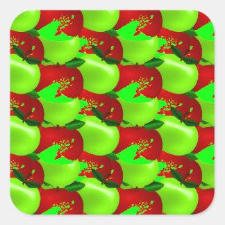 Apples Swatch Square Sticker