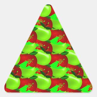 Apples Swatch Triangle Sticker