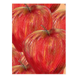 Apples to Apples Pattern Postcard