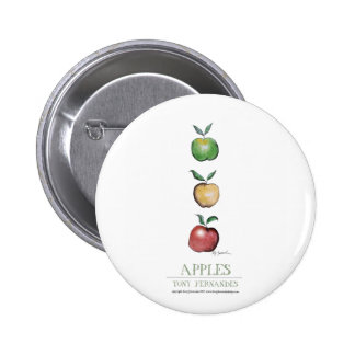 Apples, tony fernandes buttons