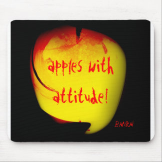 apples with attitude! banrai mouse mats