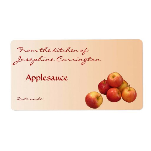 Applesauce Canning Labels