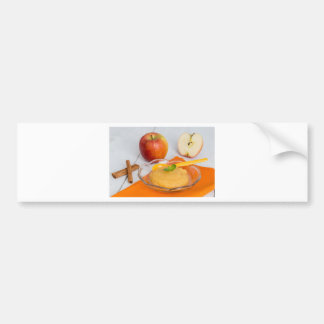 Applesauce with cinnamon and orange spoon bumper sticker