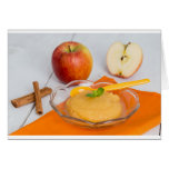 Applesauce with cinnamon and orange spoon card