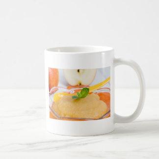 Applesauce with cinnamon and orange spoon coffee mug