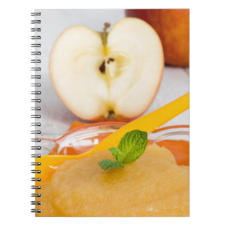 Applesauce with cinnamon and orange spoon notebook