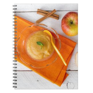 Applesauce with cinnamon and orange spoon notebooks
