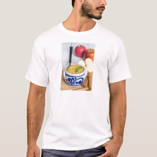 Applesauce with cinnamon in stoneware bowl T-Shirt