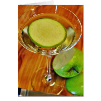Appletini Cocktail Greeting Cards