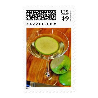 Appletini Cocktail Postage Stamps