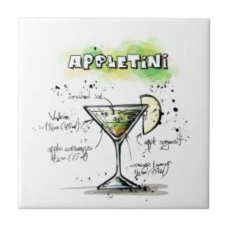 AppleTini Drink Recipe Design Ceramic Tile