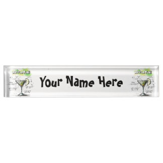 AppleTini Drink Recipe Design Desk Name Plate