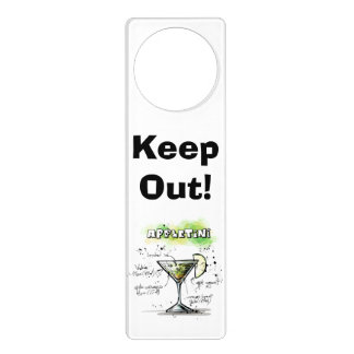 AppleTini Drink Recipe Design Door Hanger