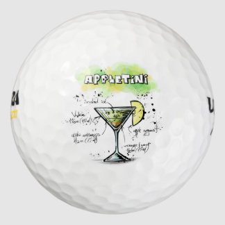 AppleTini Drink Recipe Design Golf Balls