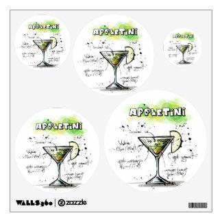 AppleTini Drink Recipe Design Wall Decor