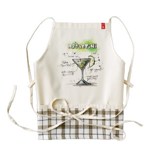 AppleTini Drink Recipe Design Zazzle HEART Apron