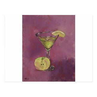 """Appletini"" Fine Art Products Postcard"
