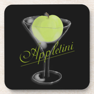 Appletini Green Apple Coaster Set