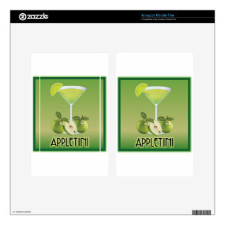 Appletini Green Decals For Kindle Fire