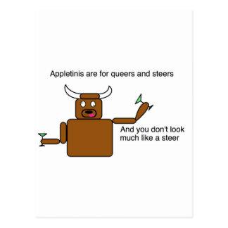 Appletini Steer Postcard
