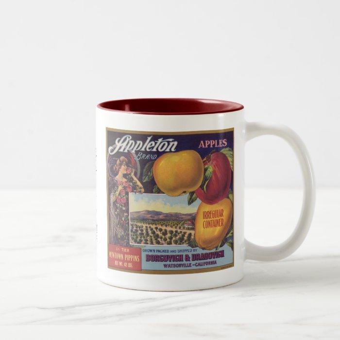 Appleton Apples Fruit Label Two-Tone Coffee Mug