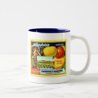 Appleton Brand Apples ~ Vintage Fruit Crate Label Two-Tone Coffee Mug