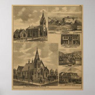 Appleton Minn Landmarks 1883 Antique Landscape Print