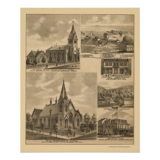 Appleton, MN Panoramic Map - 1874 Poster