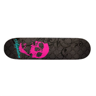 Appleton pink skull skateboard