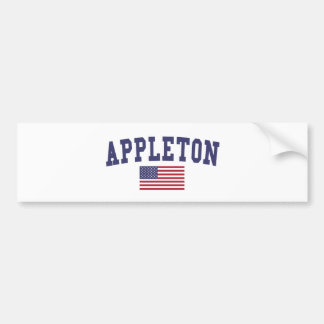 Appleton US Flag Bumper Sticker
