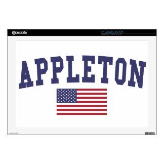 """Appleton US Flag Skin For 17"""" Laptop"""