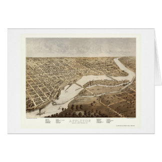 Appleton, WI Panoramic Map - 1867 Card