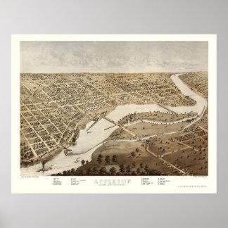 Appleton, WI Panoramic Map - 1867 Poster