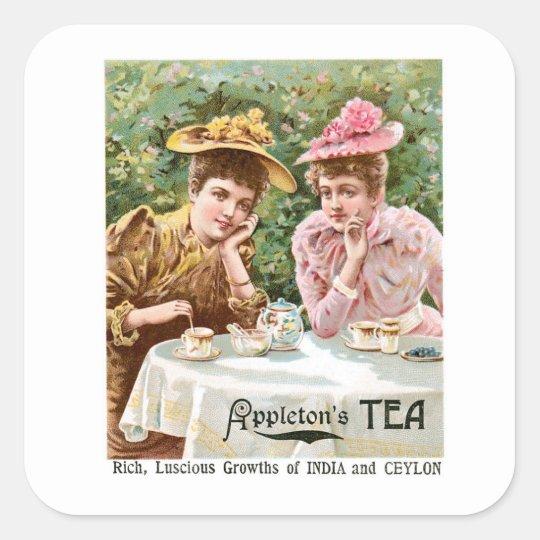 Appleton's Tea Vintage Drink Ad Art Square Sticker