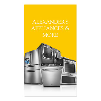 Appliance Installation and Repair Business Card
