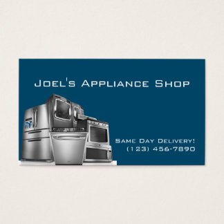 Appliance Installation Repair Business Card