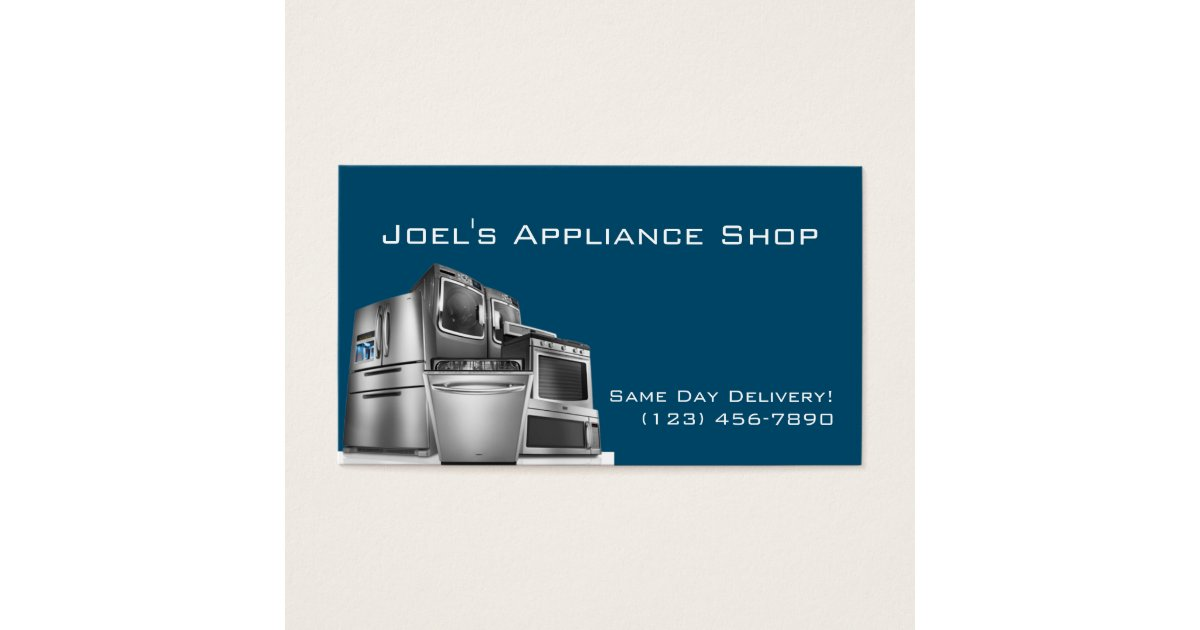 Appliance Installation Repair Business Card | Zazzle.com