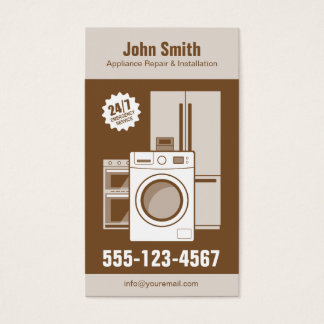 Appliance Repair, Service and Installation Business Card