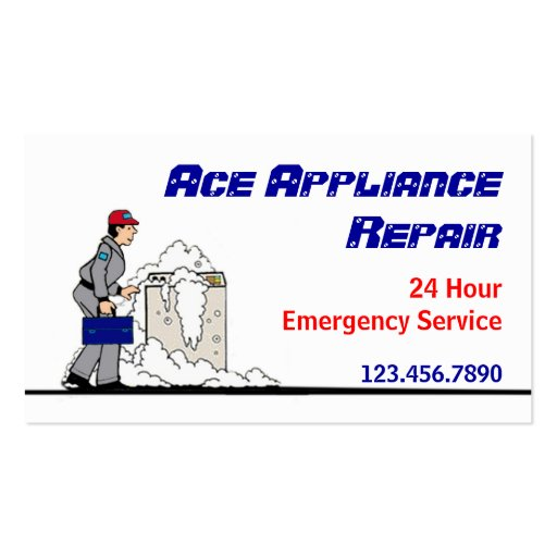 Appliance repair service business card zazzle for Appliance repair business cards