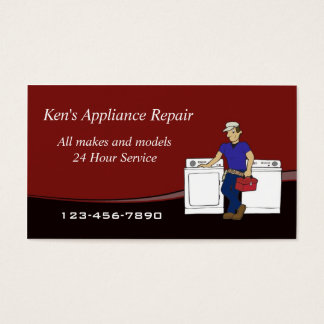 Appliance Repairman business card