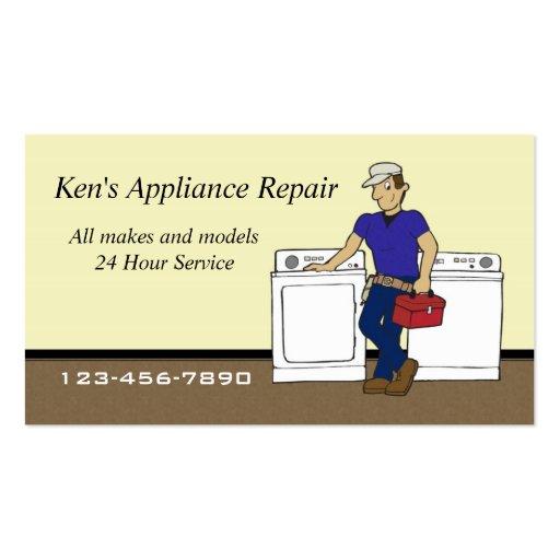 Appliance Repairman business card