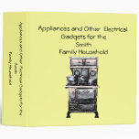 Appliances and Other Electrical Gadgets Keeper Vinyl Binder