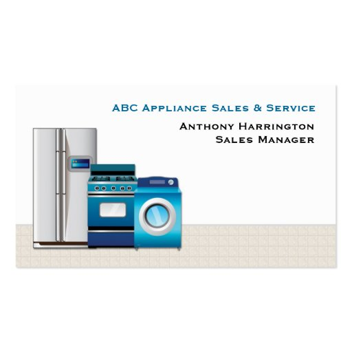 Appliances double sided standard business cards pack of for Appliance repair business cards